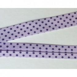 Lamówka gwiazdki fioletowe na fioletowym bawełna