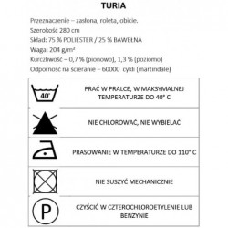 Tkanina dekoracyjna gładka Turia - Azafata 27...