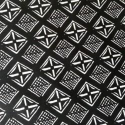Tkanina kwadraty z X kreseczki wzory...