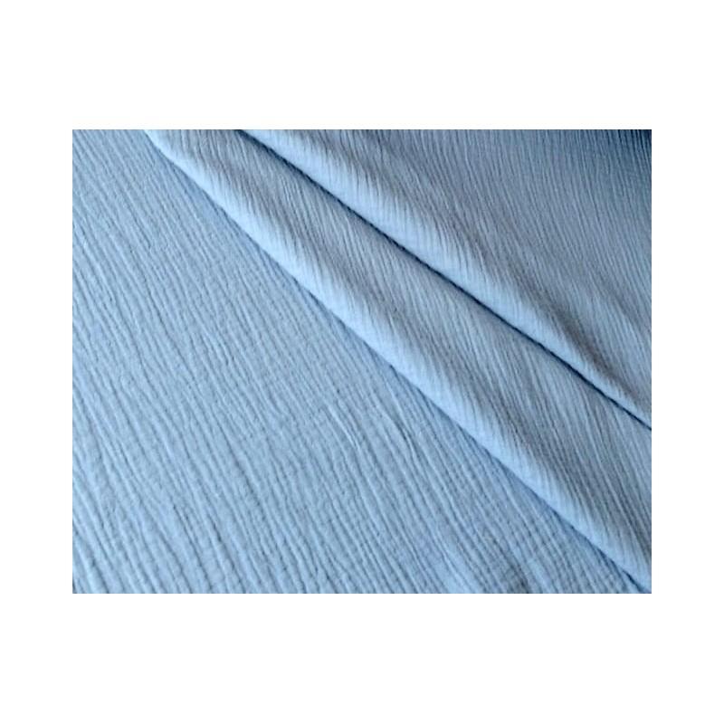 MUŚLIN bawełniany GŁADKI niebieski blue jeans...