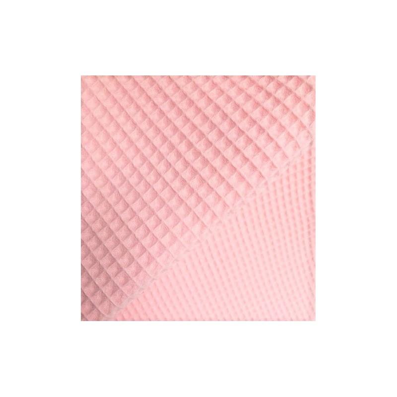 Bawełna WAFEL mały jasny różowy pastelowy BLUSH...
