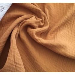 MUŚLIN bawełniany GŁADKI  CAMEL jasny brązowy