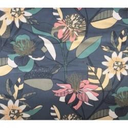 Tkanina pół panama bawełna ECHINOPS kwiaty...