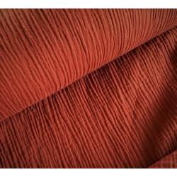 MUŚLIN bawełniany  TOMETTE ciemny rudy