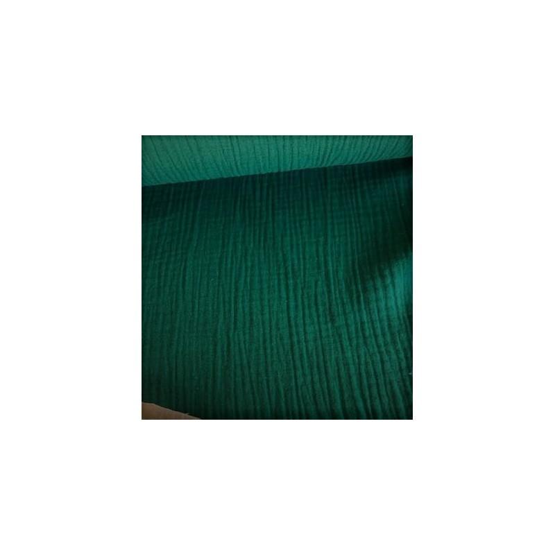 MUŚLIN bawełniany  SAPIN butelkowy zielony