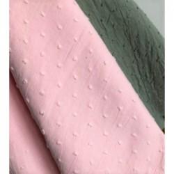 Bawełna PLUMETI jasny różowy BLUSH Certyfikat