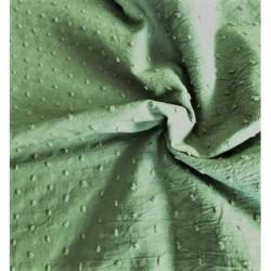 Bawełna PLUMETI KAKI zielony zgaszony Certyfikat