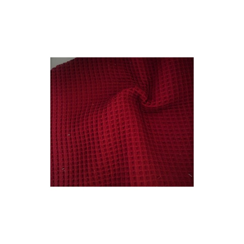 Bawełna WAFEL mały GRENATE kolor owocu granatu wpadający w czerwień CERTFIKAT