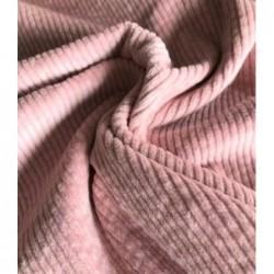 SZTRUKS grube prążki 3 mm blady jasny różowy...