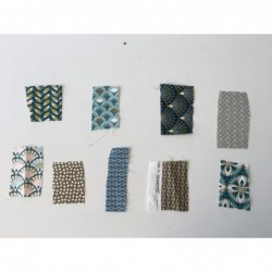 Próbki tkanin nr 87 kolekcja odcienie turkusu,...