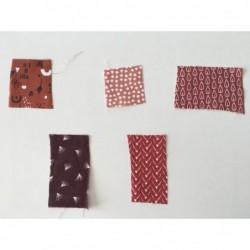 Próbki tkanin nr 89 Kolekcja odcienie rudego,...