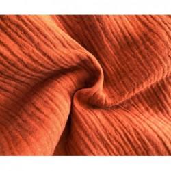 MUŚLIN bawełniany RUDY rouille