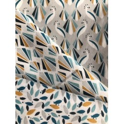 Bawełna ptaki PAWIE PAW niebieski paon...