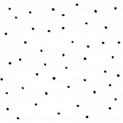 KONCOWKA dostepna 1 szt 90x150 cm Poliester wodoodporny KROPKI CIAPKI czarne na białym