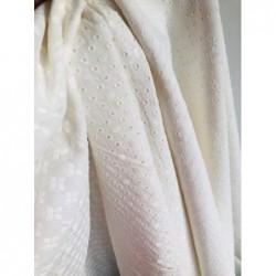 Tkanina haftowana bawełna wiskoza GWIAZDKI małe...
