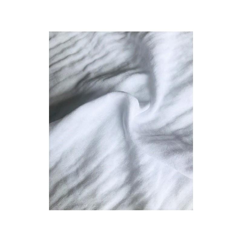 MUŚLIN bawełniany  LEKKO GNIECIONY kolor BIAŁY
