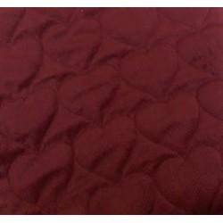 Tkanina PIKOWANA velvet pikowany SERCA bordowe