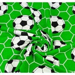 FLANELA piłka nożna na zielonym tle