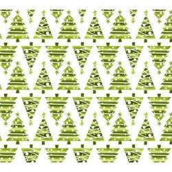 Tkanina świąteczna choinki trójkąty ZIELONE...