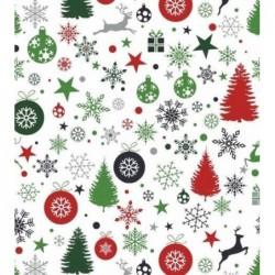 Tkanina świąteczna RENIFER bombka choinka...