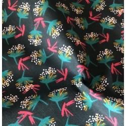 Bawełna OMBILO kwiatki dmuchawce zielony...