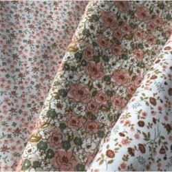 Bawełna PIO bardzo drobne kwiatki łączka różowy...