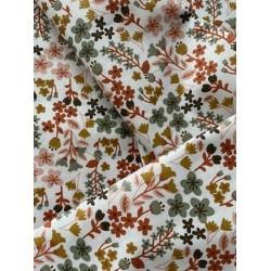 Bawełna kwiaty drobne łąka rudy różowy tymianek...