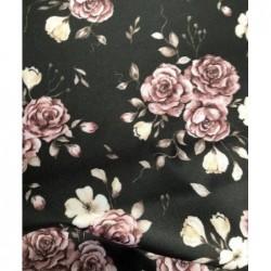 Poliester wodoodporny Róże kwiaty beżowy...