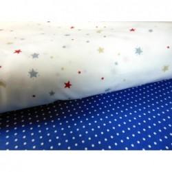 Tkanina małe grochy kropki 3-4 mm białe na...