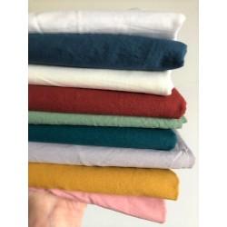 Bawełna KRESZ gładka CEGLASTY MARSALA washed cotton