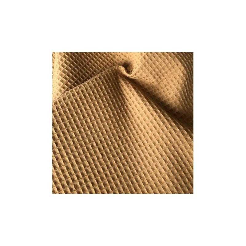 Bawełna WAFEL mięsisty mały CAMEL jasny brązowy...