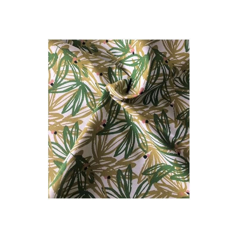 Bawełna NABALI długie liście ciemny zielony...