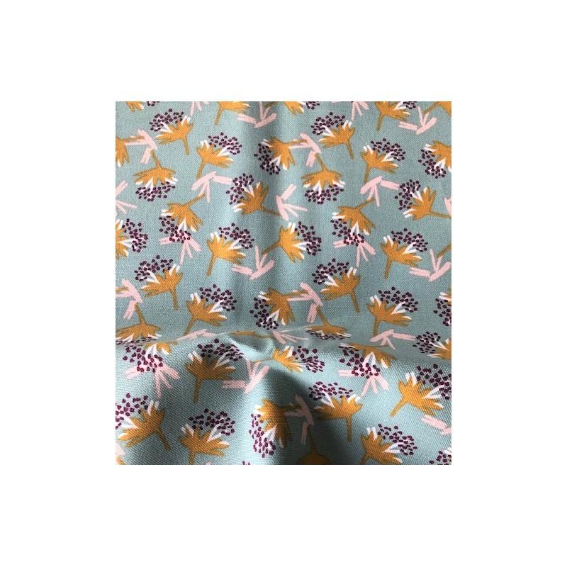 Tkanina pół panama bawełna OMBY kwiatki...