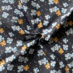 Bawełna KAMINI średnie kwiaty niebieskie...