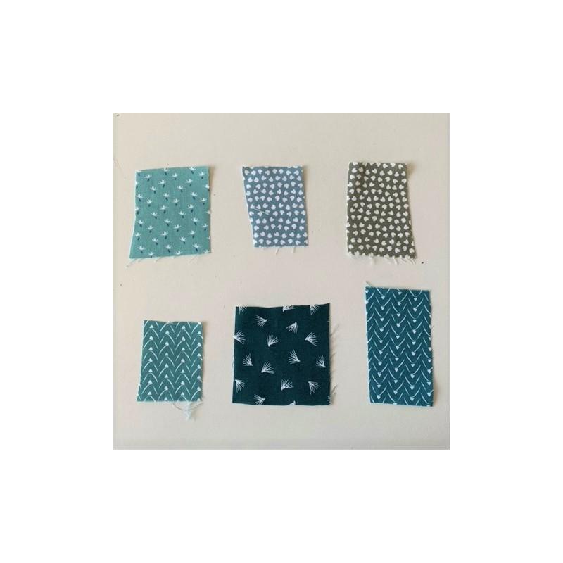 Próbki tkanin nr 91 Kolekcja odcienie zieleni i...