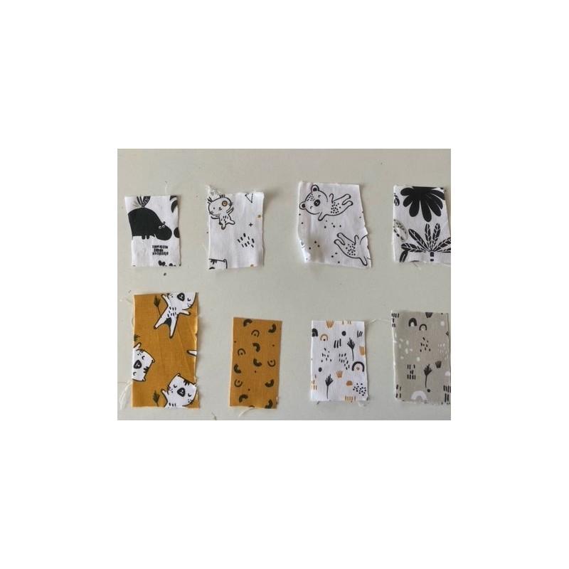 Próbki tkanin nr 90 Kolekcja zwierzaki czarny...