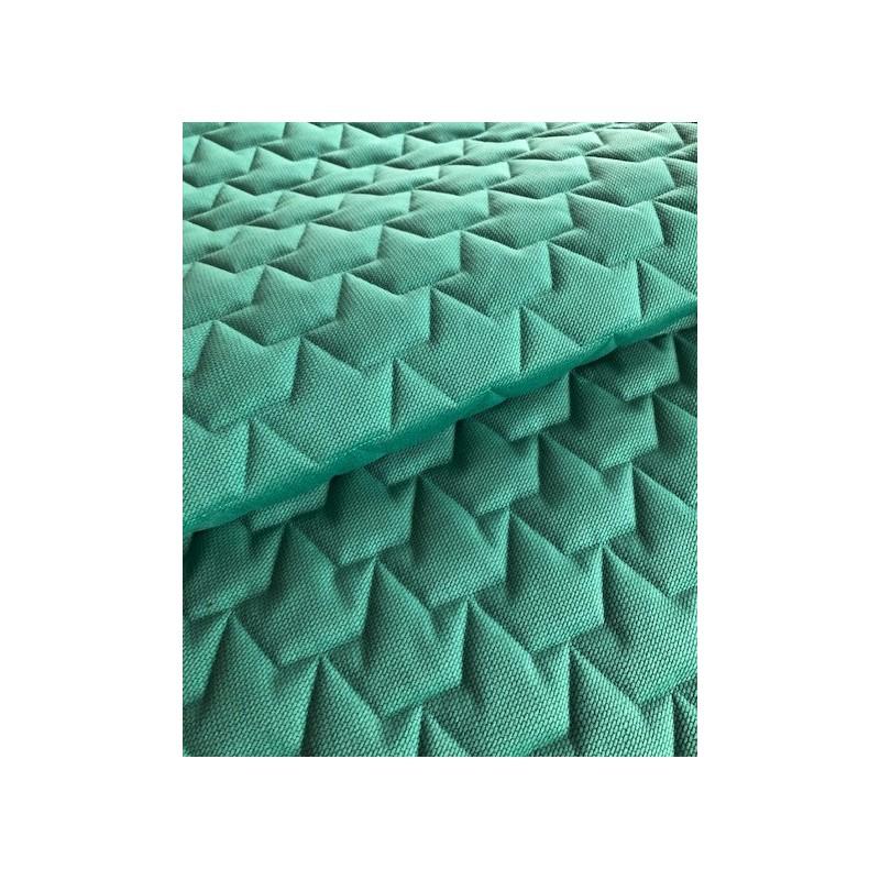 KONCOWKA dostepna 1 szt 80x150 cm VELVET PIKOWANY 3 warstwy KORONY zielony butelkowy