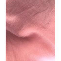 Len washed kreszowany kolor brudny różowy the...