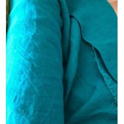 Len washed kreszowany kolor CANARD zielony...