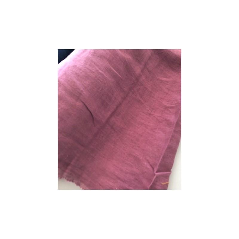 Len washed kreszowany kolor LILA fiolet z domieszką szarości  szer 145 cm