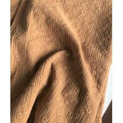 MUŚLIN HAFTOWANY bawełniany CAMEL jasny brązowy...
