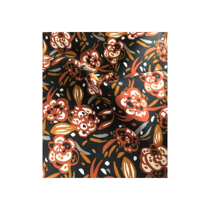 Wiskoza 100% kwiatki ZEOLI kwiaty owalne rudy...