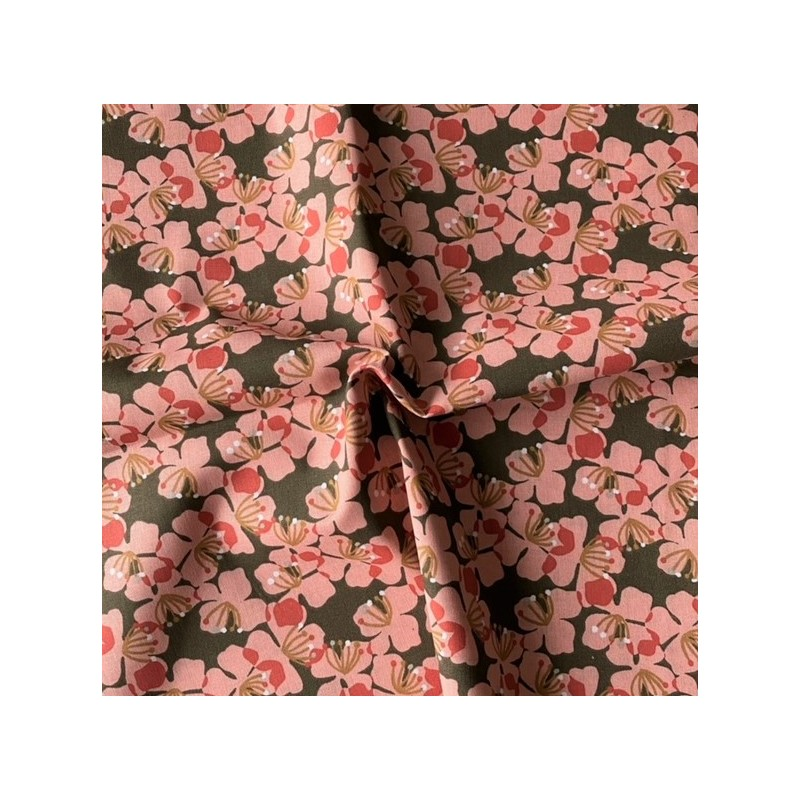 Wiskoza 100% kwiatki KAMEKI kwiaty 4 cm różowe...