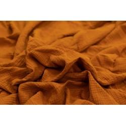 MUŚLIN bawełniany GŁADKI kolor cynamonowy