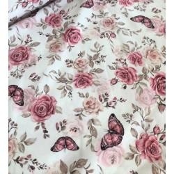 Bawełna premium RÓŻE odcienie różu beżowy...