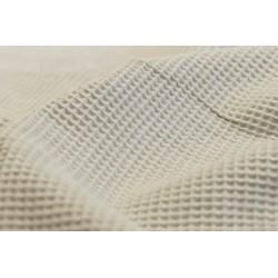 Bawełna WAFEL bawełniany jasny szary beż lniany