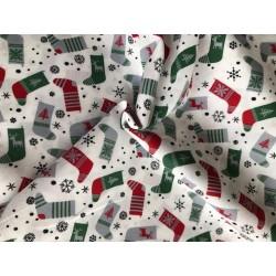 Bawełna wzór świąteczny skarpety szare,...