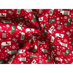 Bawełna wzór świąteczny skarpety białe,...