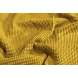 Bawełna WAFEL bawełniany MIODOWY musztardowy