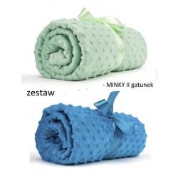 Zestaw MINKY II gat. 2 x 50x50 m NIEBIESKI...
